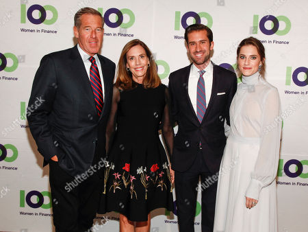 Brian Williams, Jane Williams, Douglas Williams, Allison Williams. Brian Williams, from left, Jane Williams, Douglas Williams and Allison William attends the 100 Women in Finance (100WF) and Horizons National host joint fundraising gala at Cipriani 42nd Street, in New York