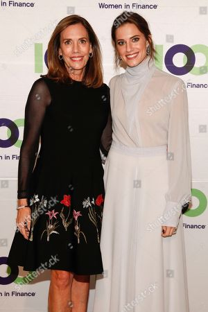Stock Photo of Allison Williams, Jane Williams. Allison Williams, left, and Jane Williams, right, attend the 100 Women in Finance (100WF) and Horizons National host joint fundraising gala at Cipriani 42nd Street, in New York