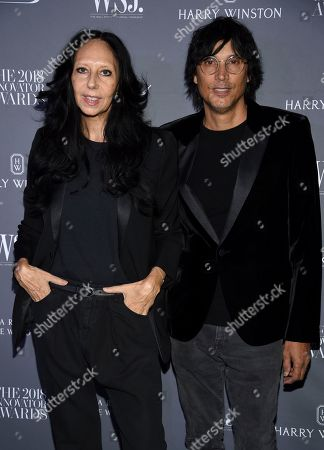 Inez Van Lamsweerde, Vinoodh Matadin. Fashion photographers Inez Van Lamsweerde, left, and Vinoodh Matadin attend the WSJ Magazine 2018 Innovator Awards at the Museum of Modern Art, in New York