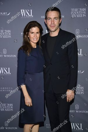 Gucci Westman Neville, David Neville. Gucci Westman Neville, left, and David Neville attend the WSJ Magazine 2018 Innovator Awards at the Museum of Modern Art, in New York