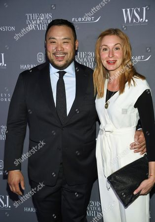 David Chang, Christina Tosi. David Chang, left, and Christina Tosi attend the WSJ Magazine 2018 Innovator Awards at the Museum of Modern Art, in New York