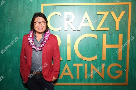 "Kevin Kwan seen at Crazy Rich Eating: A Pop-Up Restaurant Inspired by ""Crazy Rich Asians"", in West Hollywood, Calif"