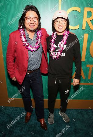 "Kevin Kwan, Jimmy O. Yang. Kevin Kwan and Jimmy O. Yang seen at Crazy Rich Eating: A Pop-Up Restaurant Inspired by ""Crazy Rich Asians"", in West Hollywood, Calif"
