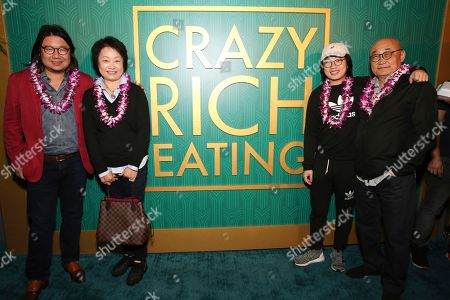 "Kevin Kwan, Amy Cheung, Jimmy O. Yang, Richard Ouyang. Kevin Kwan, Amy Cheung, Jimmy O. Yang and Richard Ouyang at Crazy Rich Eating: A Pop-Up Restaurant Inspired by ""Crazy Rich Asians"", in West Hollywood, Calif"