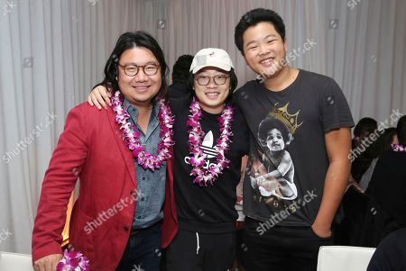 "Kevin Kwan, Jimmy O. Yang, Hudson Yang. Kevin Kwan, Jimmy O. Yang and Hudson Yang seen at Crazy Rich Eating: A Pop-Up Restaurant Inspired by ""Crazy Rich Asians"", in West Hollywood, Calif"