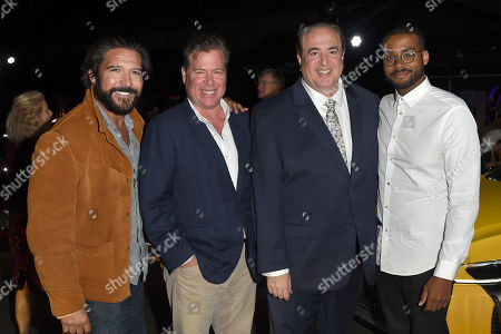 Paul Sloan, Brian Currie, Nick Vallelonga, and Christopher Bowers attend the 2018 Napa Valley Film Festival Opening Night VIP Party held at Italics Winegrowers, Napa, California, USA - 7 Nov 2018