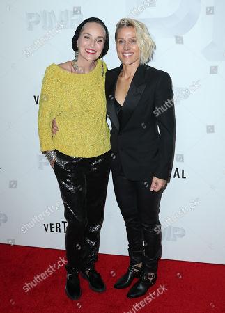 Stock Photo of Sharon Stone and Christine Crokos