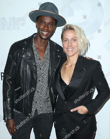 Edi Gathegi and Christine Crokos
