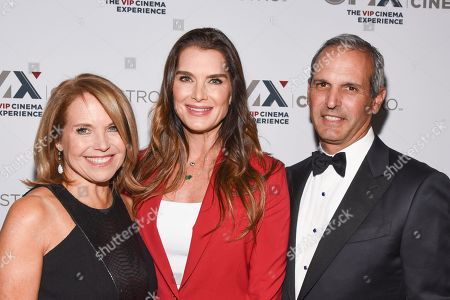Katie Couric, Brooke Shields and John Molner