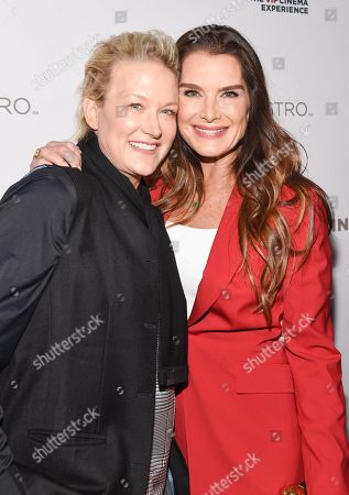 Stock Image of Nancy Jarecki and Brooke Shields