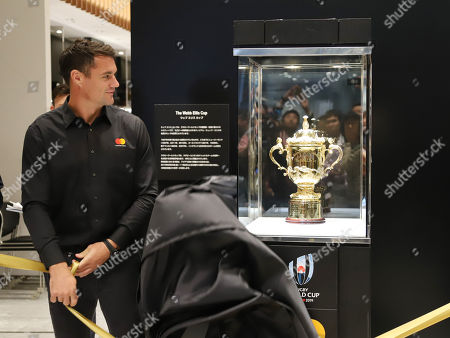 Former New Zealand's All Blacks player Dan Carter who is now playing for Japan's Kobelco Steelers