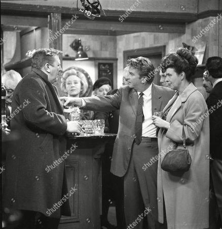 Barry Keegan (as Jim Mount), Doris Speed (as Annie Walker), Peter Adamson (as Len Fairclough) and Pat Phoenix (as Elsie Tanner)