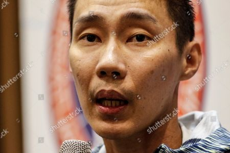 Malaysian badminton player Lee Chong Wei speaks during a press conference in Kuala Lumpur, Malaysia, 08 November 2018. Chong Wei spoke to the media for the first time after he was diagnosed with nose cancer in July.