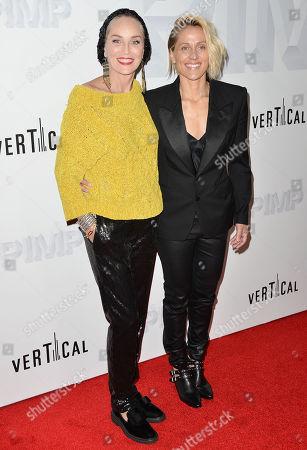 Sharon Stone and Christine Crokos