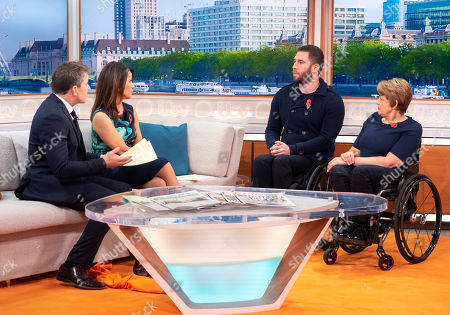 Ben Shephard and Susanna Reid with Justin Levene and Tanni Grey-Thompson