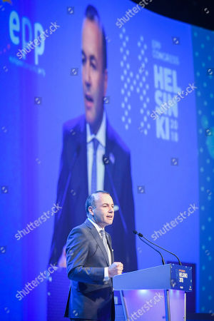 German MEP Manfred Weber speaks during the 23rd European People's Party (EPP) Congress in Helsinki, Finland, 08 November 2018. European conservative centre-right parties gathered in Helsinki on 07 and 08 November, to elect the lead candidate for the next European elections that will take place from 23 to 26 May 2019. Top candidates are German MEP Manfred Weber and Finland's former Prime Minister Alexander Stubb.
