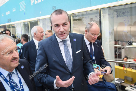 German MEP Manfred Weber (C) attends the 23rd European People's Party (EPP) Congress in Helsinki, Finland, 08 November 2018. European conservative centre-right parties gathered in Helsinki on 07 and 08 November, to elect the lead candidate for the next European elections that will take place from 23 to 26 May 2019. Top candidates are German MEP Manfred Weber and Finland's former Prime Minister Alexander Stubb.