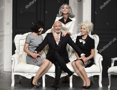 Stock Picture of Frank Leboeuf , Thierry Samitier, Caroline Ami, Cindy Cayrasso, Marinelly Vaslon