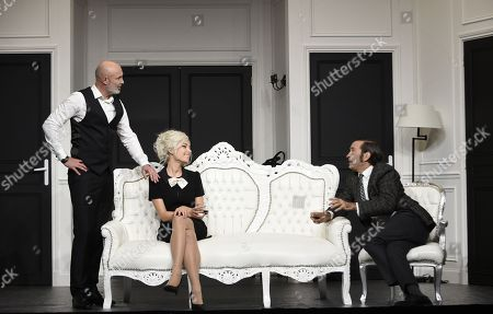Frank Leboeuf, Cindy Cayrasso and Thierry Samitier