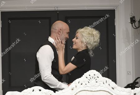 Frank Leboeuf and Cindy Cayrasso