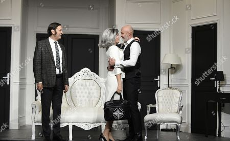 Frank Leboeuf, Caroline Ami and Thierry Samitier