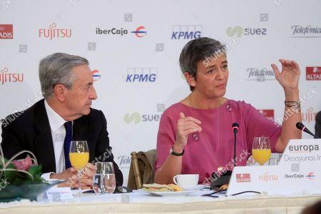Editorial image of European Commissioner for Competition Margrethe Vestager visits Madrid, Spain - 08 Nov 2018