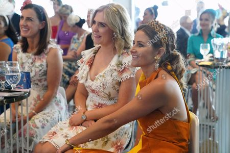 Melbourne Cup-winning jockey Michelle Payne listens to Actress and Director Rachel Griffiths speak about her film 'Ride Like a Girl' during the Kennedy Oaks Day, as part of the Melbourne Cup Carnival, at Flemington Racecourse in Melbourne, Australia, 08 November 2018. The Melbourne Cup Carnival takes place from 03 - 10 November 2018.