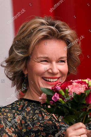 Queen Mathilde visits an exhibition, Leuven