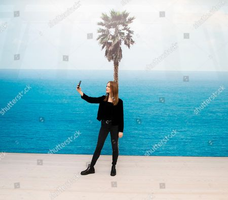 Editorial picture of 'John Baldessari, Brain/Cloud (Two Views): with Palm Tree and Seascape, 2009' installation, Marian Goodman Gallery, London, UK - 08 Nov 2018