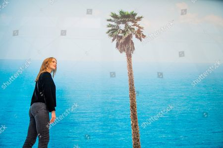 Editorial photo of 'John Baldessari, Brain/Cloud (Two Views): with Palm Tree and Seascape, 2009' installation, Marian Goodman Gallery, London, UK - 08 Nov 2018