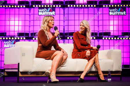 Ultimate Fighting Championship (UFC) fighter, Paige VanZant (L), and model and actress Charlotte McKinney (R), during a conversation about 'How to win friends and influence people' with Business Insider's editor-in-chief, Jim Edwards (not in the picture), on the fourth and last day of the 2018 Web Summit in Lisbon, 08 November 2018. The 2018 Web Summit, considered the largest innovation event of startups and technological entrepreneurship in the world, takes place from 05 to 08 November at the Altice Arena and FIL pavilion, in Parque das Nacoes, Lisbon.