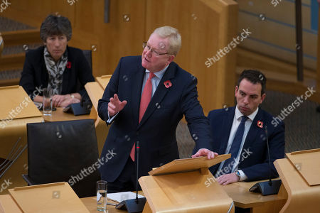 Scottish Parliament First Minister's Questions - Liz Smith, Jackson Carlaw, Deputy Leader of the Scottish Conservative and Unionist Party, stands in for Ruth Davidson, Leader of the Scottish Conservative and Unionist Party, who is on maternity leave, and Maurice Golden