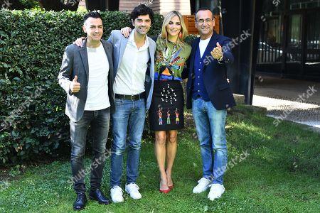 Gigi and Ross Francesca Fialdini and Carlo Conti