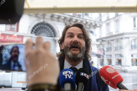 Frederic Beigbeder, president of Renaudot Prize. The jury of the Renaudot Prize, chaired by Frederic Beigbeder, was awarded to Olivia de Lamberterie for her essai: Avec Toutes mes sympathies, Stock Editions at the restaurant Drouant in Paris.