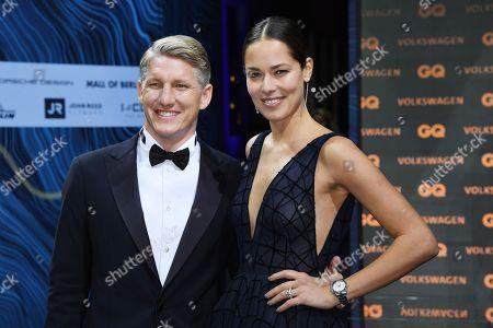 Bastian Schweinsteiger and his wife, former Serbian tennis player Ana Schweinsteiger-Ivanovic