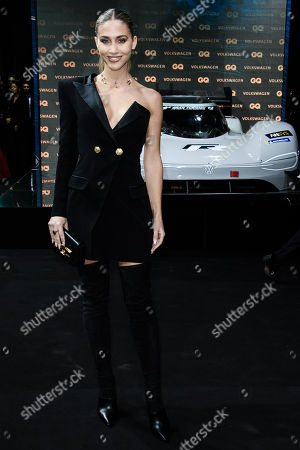 Stock Image of German model Ann-Kathrin Broemmel arrives for the GQ Men of the Year 2018 awards show in Berlin, Germany, 08 November 2018. The international monthly men's magazine GQ presents the award to personalities from the show and music businesses as well as society, sport, politics, culture and fashion.