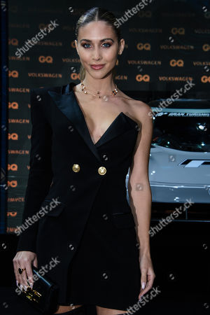 Stock Picture of German model Ann-Kathrin Broemmel arrives for the GQ Men of the Year 2018 awards show in Berlin, Germany, 08 November 2018. The international monthly men's magazine GQ presents the award to personalities from the show and music businesses as well as society, sport, politics, culture and fashion.