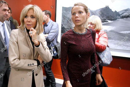 Stock Image of Brigitte Trogneux and daughter Tiphaine Auziere