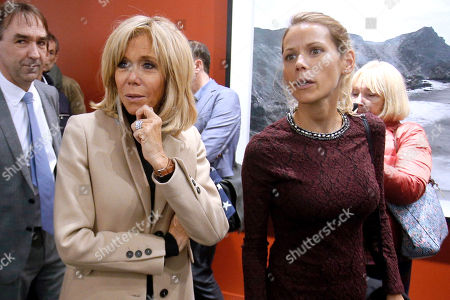 Stock Photo of Brigitte Trogneux and daughter Tiphaine Auziere