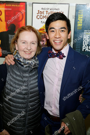 Kate Burton and Justin Chien