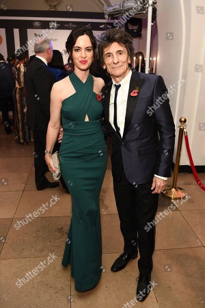 Ronnie Wood and Sally Wood attend The Tusk Conservation Awards at Banqueting House