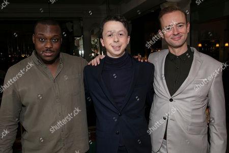Raphael Bushay (Sowgelder/Shepherd/Lion), Richard Leeming (Boy) and Richard Dempsey (Gines de Pasamonte)
