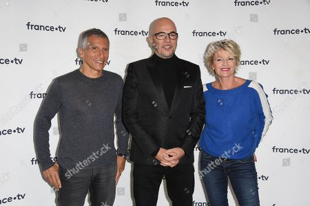 Nagui, Pascal Obispo and Sophie Davant