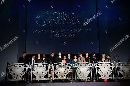 Editorial picture of 'Fantastic Beasts: The Crimes of Grindelwald' film premiere, Paris, France - 08 Nov 2018