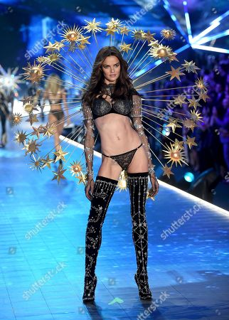 Barbara Fialho walks the runway during the 2018 Victoria's Secret Fashion Show at Pier 94, in New York