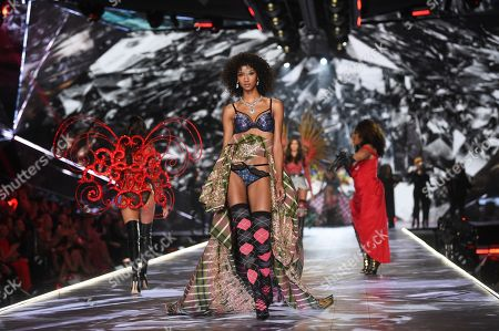 Aiden Curtiss walks the runway during the 2018 Victoria's Secret Fashion Show at Pier 94, in New York