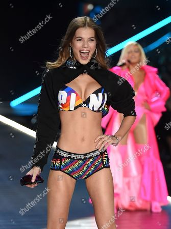 Myrthe Bolt walks the runway during the 2018 Victoria's Secret Fashion Show at Pier 94, in New York