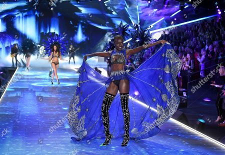 Grace Bol walks the runway during the 2018 Victoria's Secret Fashion Show at Pier 94, in New York