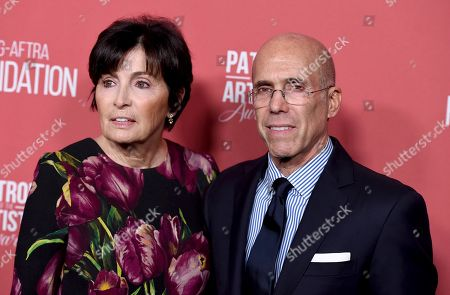 Marilyn Katzenberg, Jeffrey Katzenberg. Marilyn Katzenberg, left, and Jeffrey Katzenberg arrive at the Patron of the Artists Awards, at the Wallis Annenberg Center for the Performing Arts in Beverly Hills, Calif