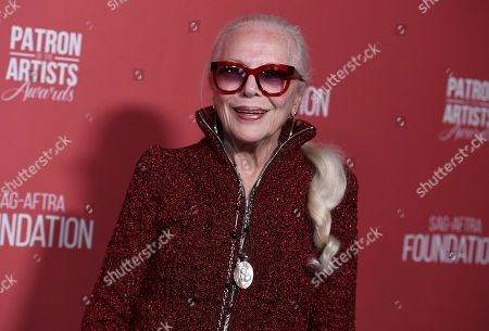 Barbara Bain arrives at the Patron of the Artists Awards, at the Wallis Annenberg Center for the Performing Arts in Beverly Hills, Calif